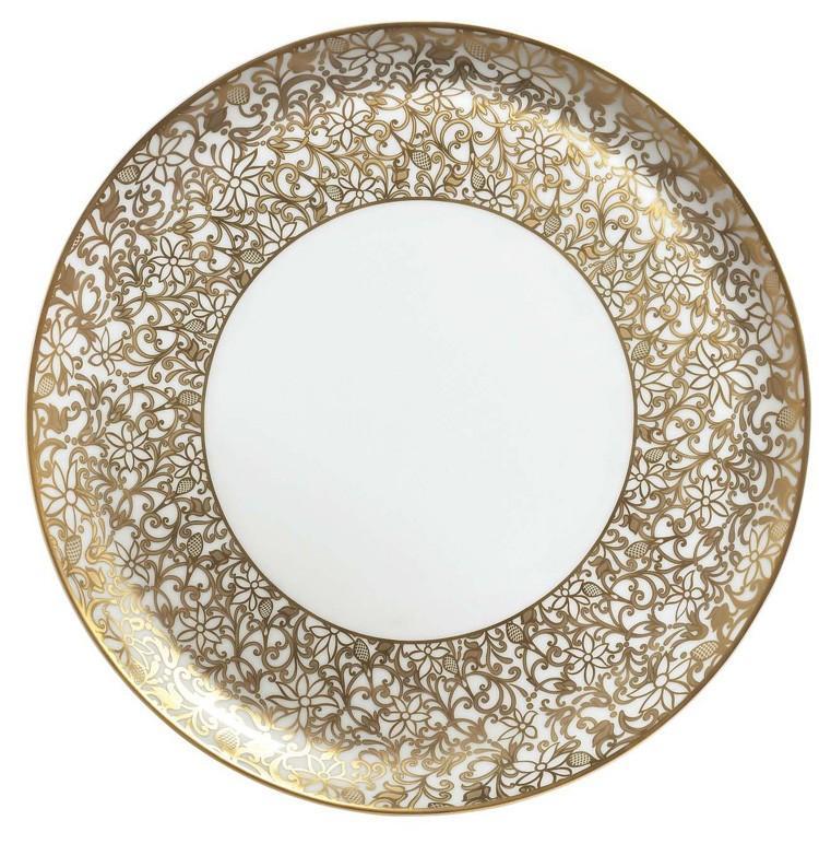 $765.00 Flat Cake Plate  sc 1 st  Radcliffe Jewelers - Bridge & Raynaud ~ Salamanque - Gold ~ Flat Cake Plate Price $765.00 in ...
