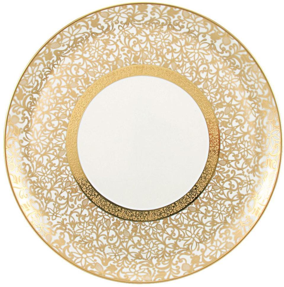 $2945.00 Incrustation Flat Cake Plate  sc 1 st  Radcliffe Jewelers - Bridge & Raynaud ~ Tolede - Gold ~ Incrustation Flat Cake Plate Price ...