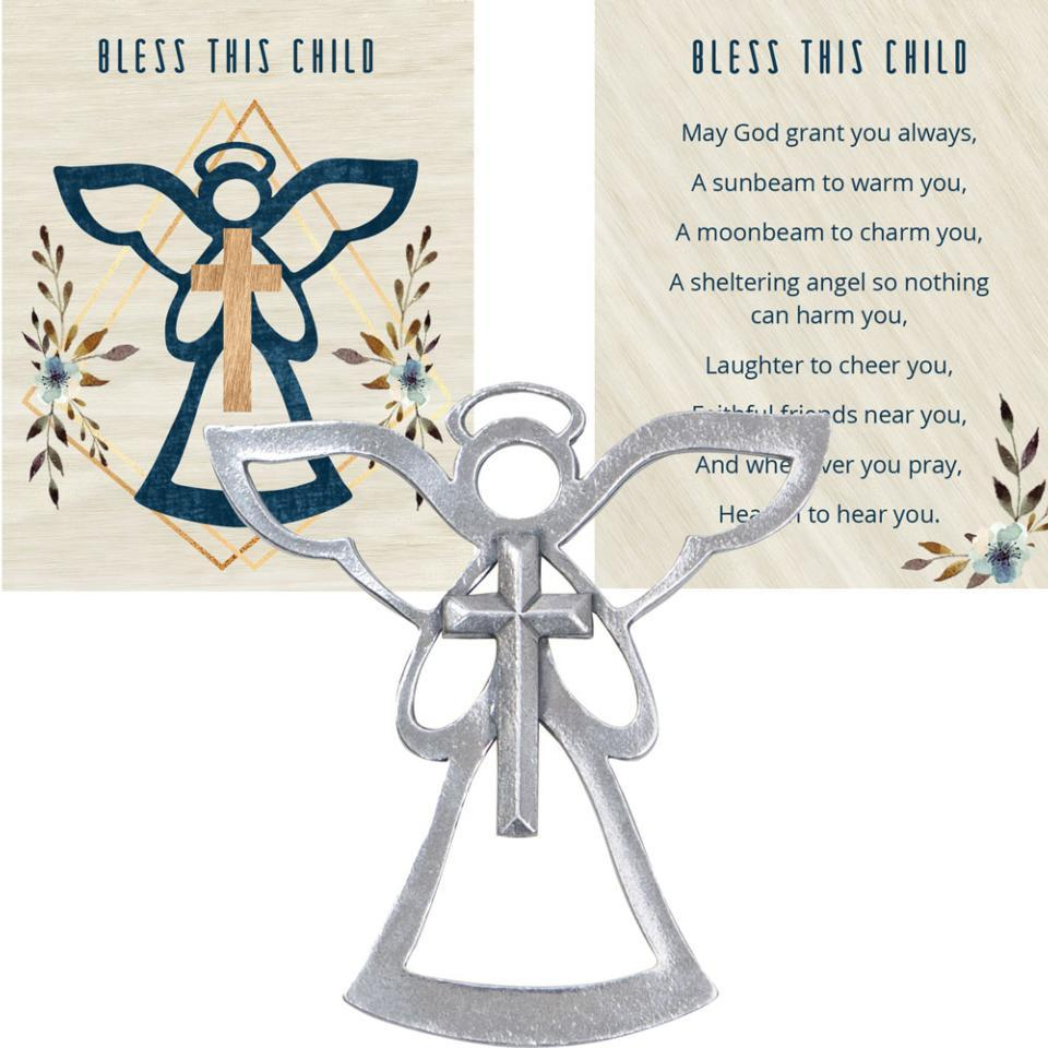 ANGEL BLESSING ORNAMENT � BLESS THIS CHILD