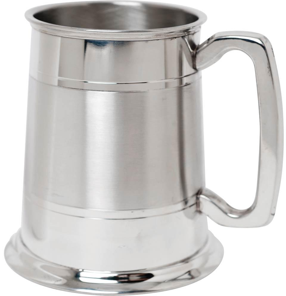 Tankard with Lines Part Satin