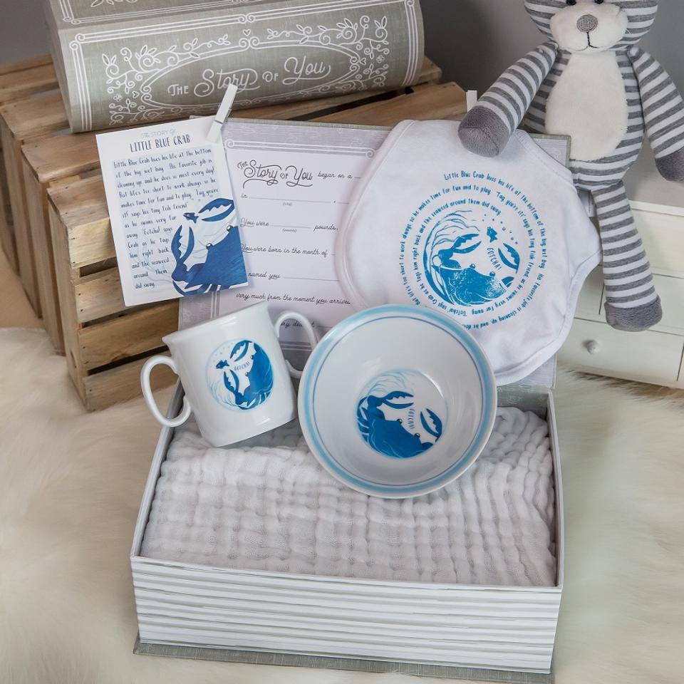 Little Blue Crab Cup, Bowl, & Bib Set