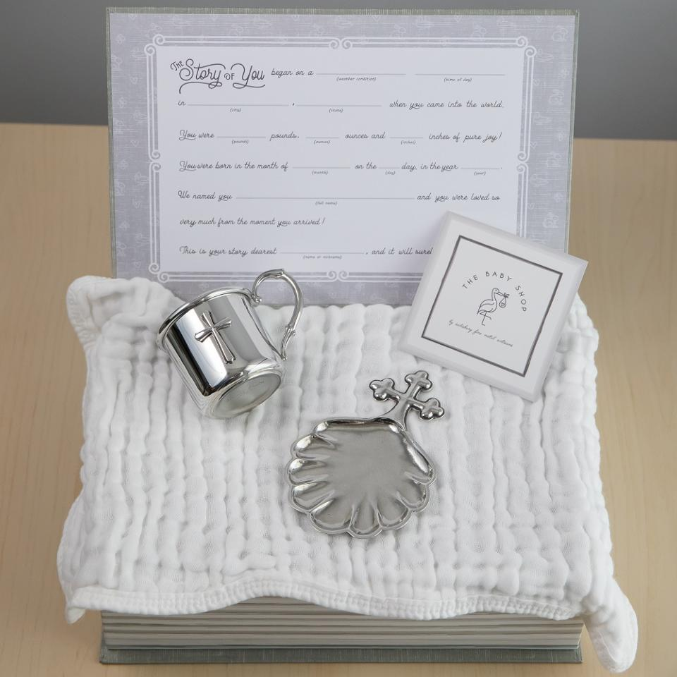 Cross Cup & Baptismal Shell Gift Set