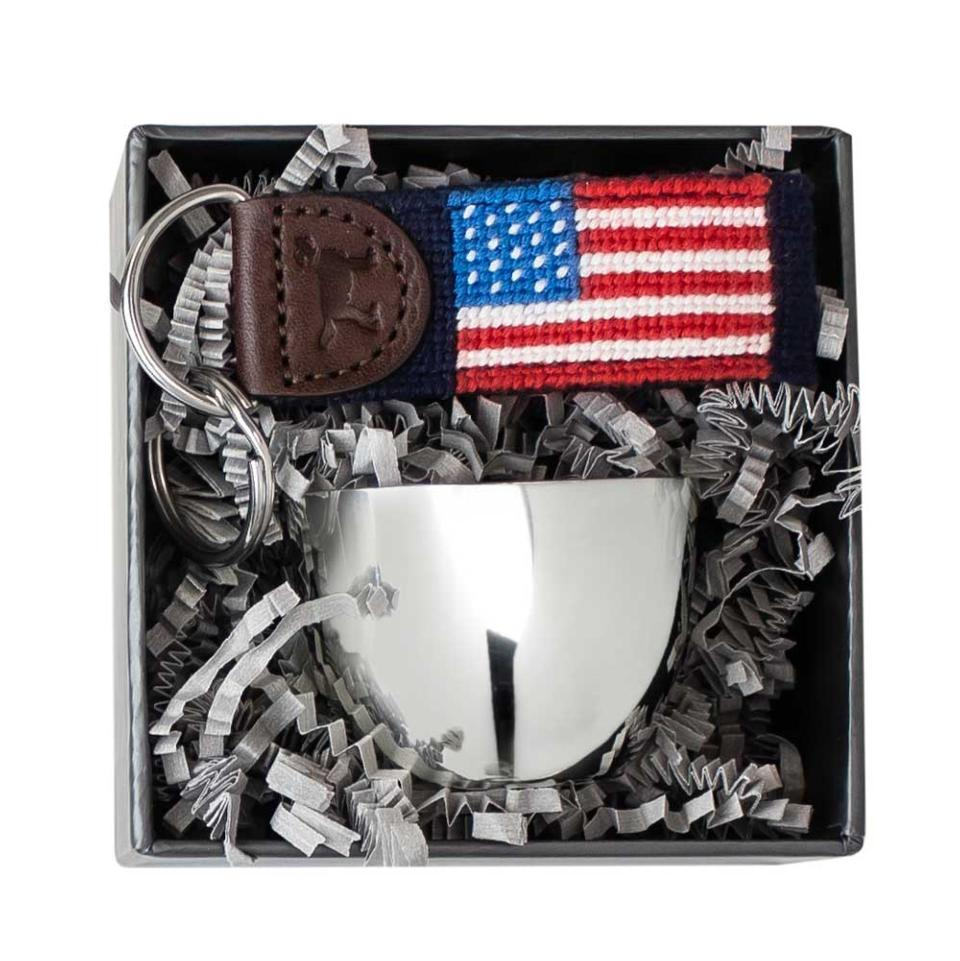 Jefferson Jigger And Flag Key Fob