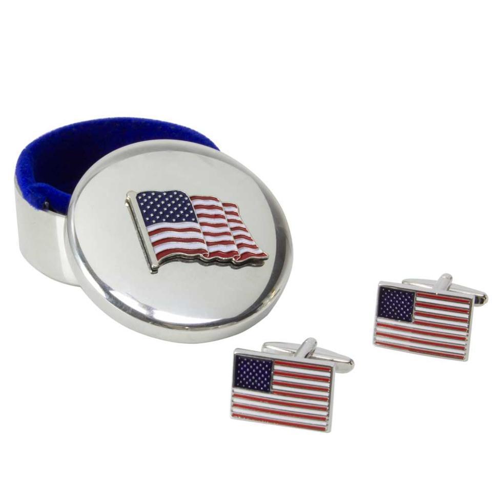 Flag Keepsake Box & Flag Cuff Links