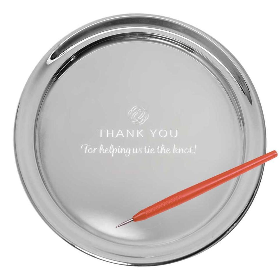 "11"" Gallery Tray & Engraving Pen - Thank You"