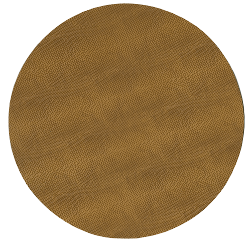 $14.50 Snakeskin Round Placemat Cognac