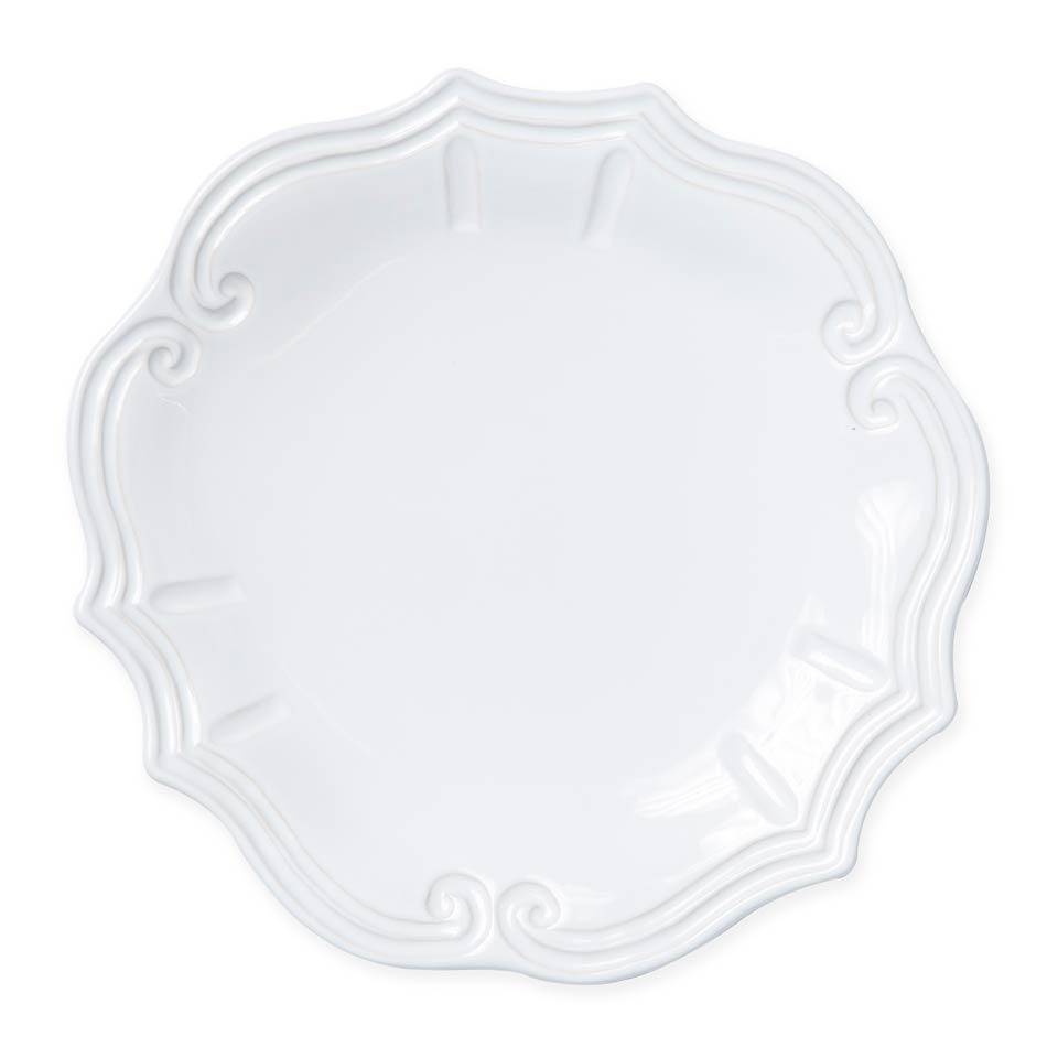 New $46.00 White Baroque Dinner Plate  sc 1 st  FabVilla & Vietri ~ White ~ White Baroque Dinner Plate Price $46.00 in Mashpee ...