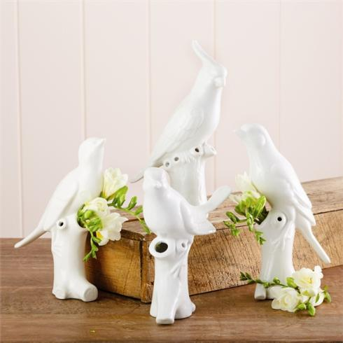 Two's Company   Bird Vases $16.00