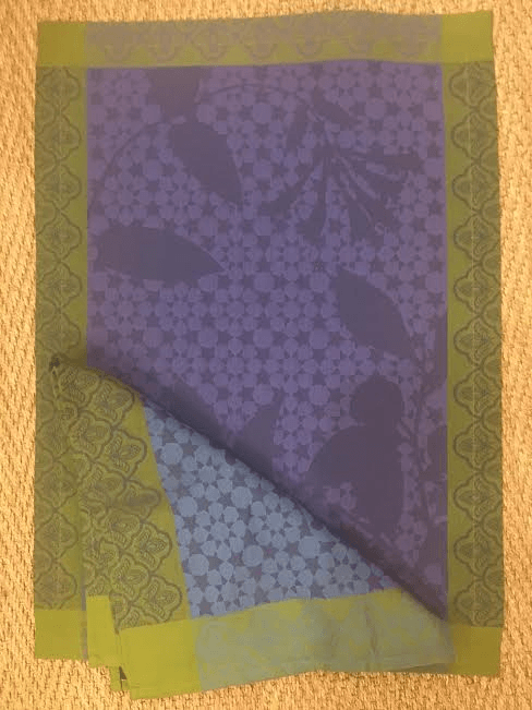 Le Jacquard Francais   navy and green placemat $24.00