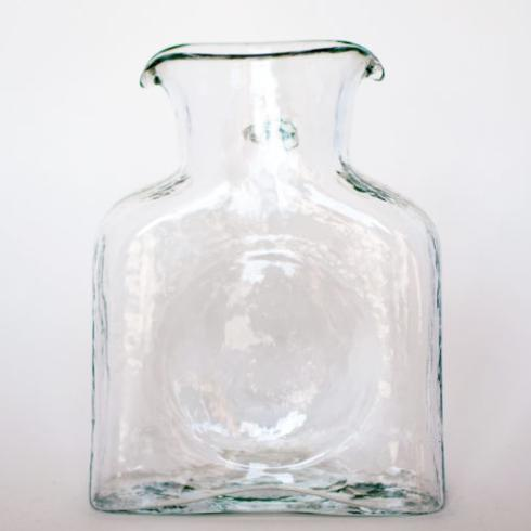 3 Monkeys Exclusives   Blenko Glass Clear Pitcher large $56.00