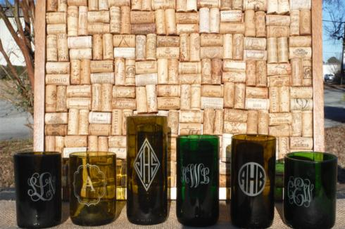 $88.00 Cellar to Ceiling Monogram Glasses Set 4