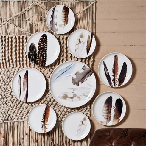 Two's Company   feather platter $32.00