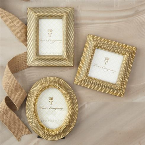 Two's Company   Gold dot Frame $12.00