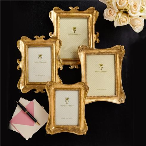 Two's Company   Gold Leaf Frame 4x6 $30.00