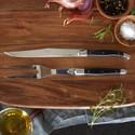 $70.00 Laguiole black carving set