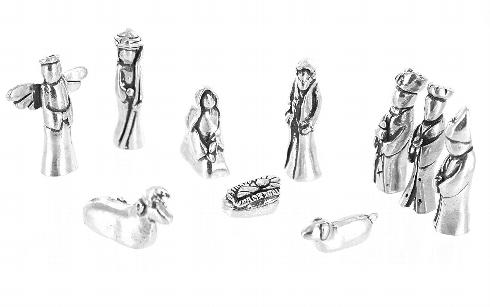 3 Monkeys Exclusives   Pewter Nativity Set $100.00
