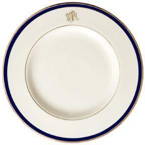 Pickard Signature   Pickard Signature cobalt monogrammed salad plate $71.00