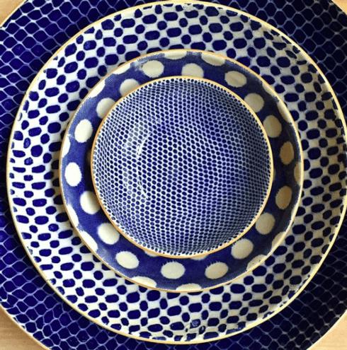 $78.00 8 in bowl maze cobalt