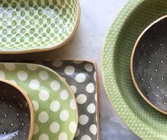 Terrafirma   10x10 square bowl - citurs $140.00