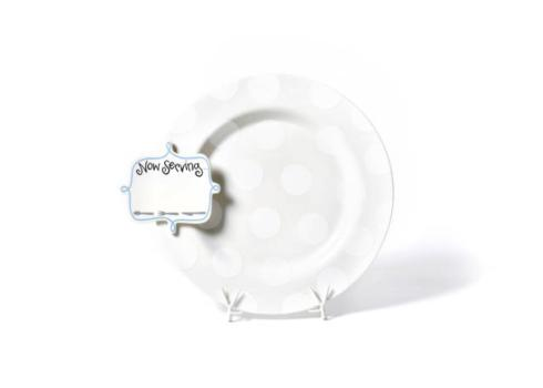 Happy Everything by Coton Colors  Happy Everything  White Dot Entertaining Platter with Now Serving Big Attachment $118.00
