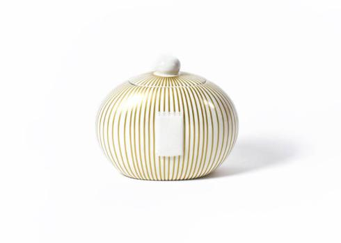 Happy Everything by Coton Colors  Happy Everything  Gold Stripe Big Cookie Jar $83.00