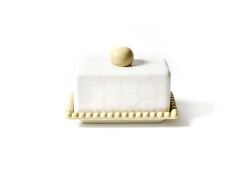 Happy Everything by Coton Colors  Happy Everything  White Pebble Beaded Butter Dish $30.00