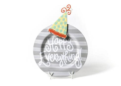 Happy Everything by Coton Colors  Happy Everything  Stone Stripe Happy Everything Big Platter with Big Pom Hat Attachement $118.00