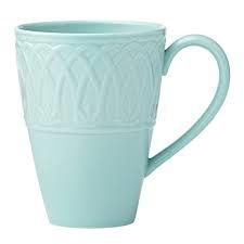 Lenox  British Colonial Carved Aqua Aqua mug $23.00