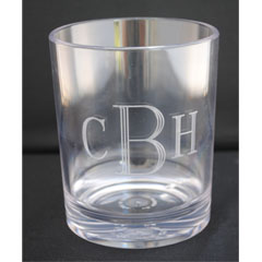 Tiger Lily  Ice Beverage monogram  Tiger Lily Low Ball with Mono $14.00