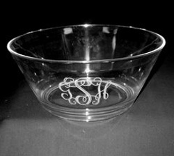 Tiger Lily Salad Bowl with Monogram collection with 1 products
