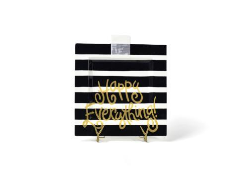 Happy Everything by Coton Colors  Happy Everything  Black Stripe Big Square Platter $70.00