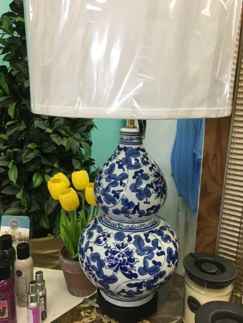 Annadale's Exclusives   Blue Lamps $169.00