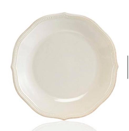 Lenox  White Bead  Dinner Plate  $30.00