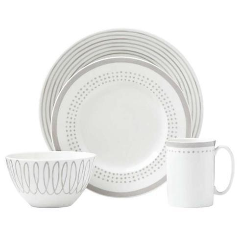 $80.00 Charlotte Street  East Grey 4pcs place setting