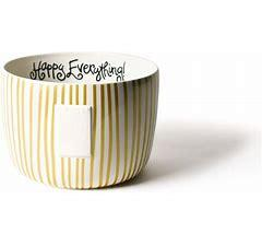 Happy Everything by Coton Colors   Big Stripe H.E Bowl $69.95