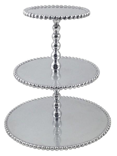 $98.00 Mariposa beaded Tiered Stand
