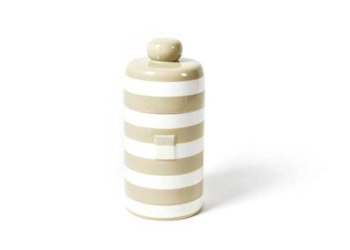Happy Everything by Coton Colors   Neutral Stripe Mini Canister $69.95