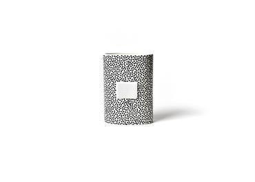 Black Small Dot Mini Oval Vase  MINI-OVS-BLK