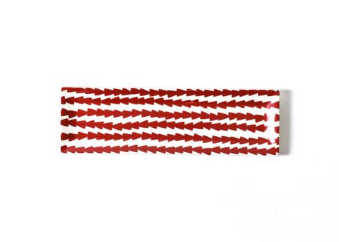 Happy Everything by Coton Colors  Happy Everything  Dart Skinny Rectangle Tray Red Coton Colors $40.00