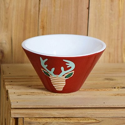 Happy Everything by Coton Colors  Happy Everything  Small Red Deer Bowls $15.00