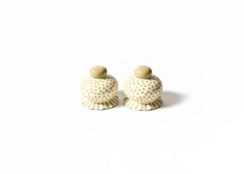 Happy Everything by Coton Colors  Happy Everything  Cobble Small Dot Ruffle Salt And Pepper Set Of 2 $20.00