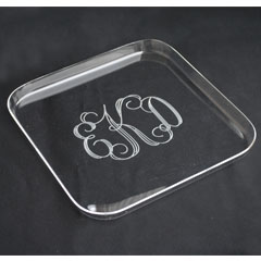 Tiger Lily   Square Tray 'M' Monogram $36.00