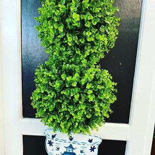 $59.99 Two ball topiary door hanger