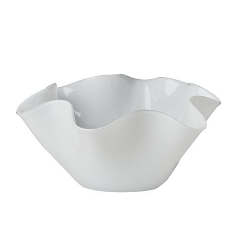 $130.00 Small White Bowl with Wavy Top