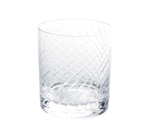 $163.00 St. Regis DOF Glass, Diagonal Cut, Set of 4