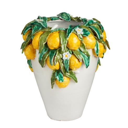 $1,164.00 Vase, Olive Shape, w/ Lemons