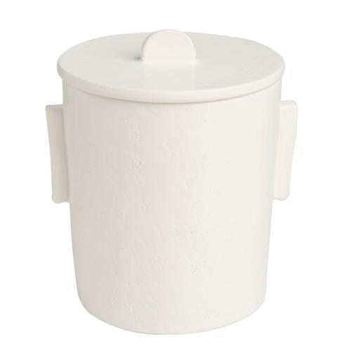 $238.00 Ceramic Ice Bucket, Matte White w/ Lid