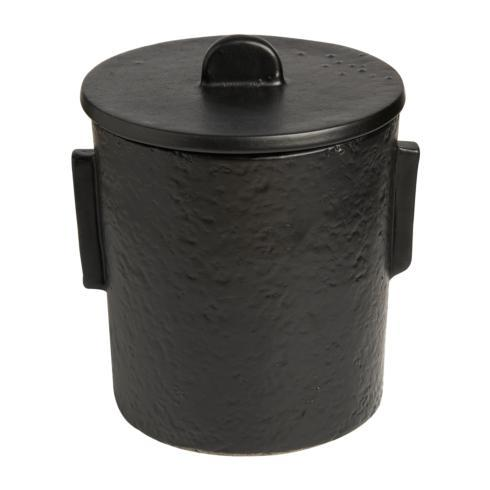 $238.00 Ceramic Ice Bucket, Black Matte w/ Lid