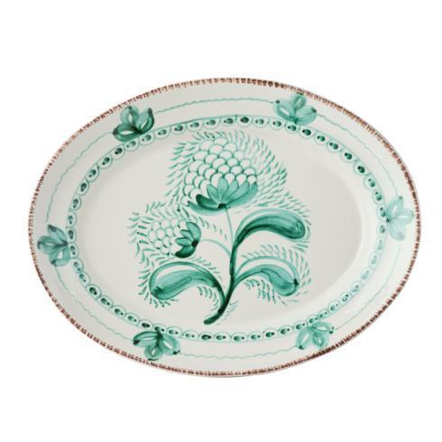 $166.00 Green/White Platter