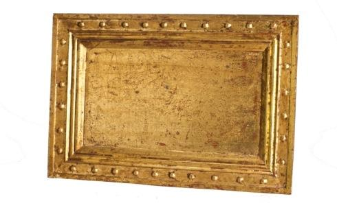 $103.00 Tray, Antiqued Gold